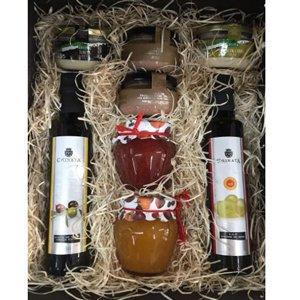 caja regalo gourmet aceite vinagre pate y mermelada Deliex amazon - regalo navidad gourmet