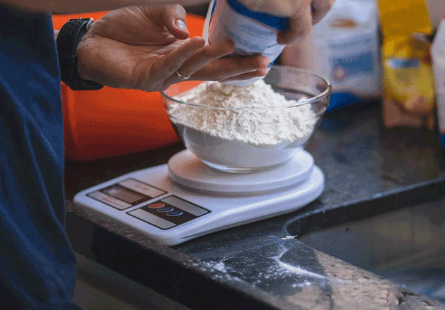 ingredientes pan en panificadora