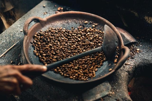 tostado del café